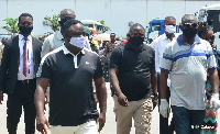 Governor of Cross River state, Ben Ayade with face masks