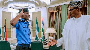 President Muhammadu Buhari and Former IGP Muhammed Adamu
