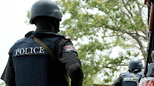 A photo of a Nigerian police officer