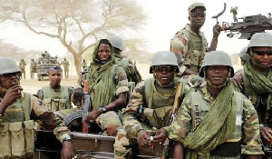 Nigerian soldiers on duty