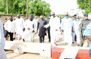 Niger State Govt inspecting the projects