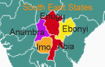 A map of the South East regions