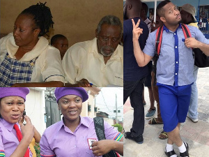 Some Nollywood actors, actresses in school uniforms