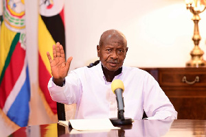 Uganda's President Yoweri Museveni took an early lead in the presidential election race