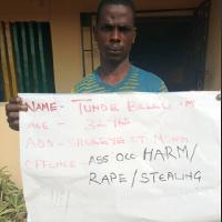 Arrested suspect, Tunde Bello