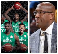 Nigeria's D' Tigers and coach, Mike Brown