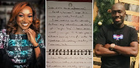 Kate Henshaw with an inset of the love letter written by a Twitter user