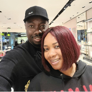 Obi Cubana with his wife