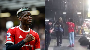 Paul Pogba in action for Premier League side Manchester United