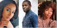 Adesua Etomi, Nigerian-British actor David Oyelowo and Genevieve Nnaji