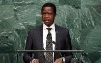 Zambian President - Edgar Lungu       |  Image: Sky