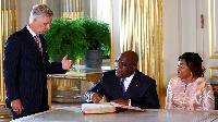 Belgian King Philippe and DRC President Felix Tshisekedi