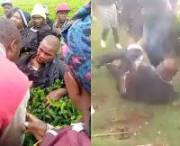 Kenyan man been beaten by locals