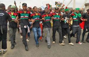 IPOB Members Demonstrate In Onitsha