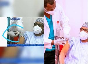 President Muhammadu Buhari receives coronavirus jab