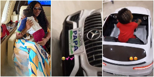 Davido's bae Chioma shows off Ifeanyi's new Mercedes Benz