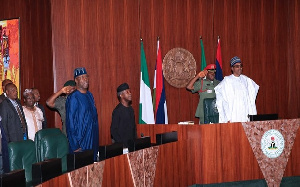 President Muhammadu Buhari at the Federal Executive Council meeting