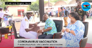 President Nana Addo Dankwa Akufo-Addo taking his vaccine jab