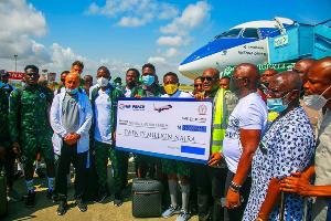 The Eagles flew to Cape Verde in one of Air Peace's ultramodern Embraer 195-E2 aircraft