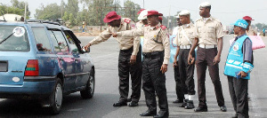 Some personnel of the Federal Road Safety Commission (FRSC) in Oyo State