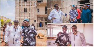 Zlatan Ibile at the construction site of his Abuja mansion