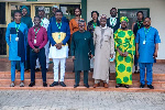 Executives of NANS-Ghana at the Nigerian High Commission in Ghana