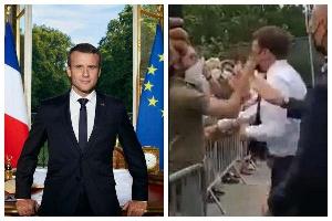 Man slaps France President Emmanuel Macron