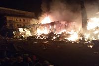 Fire razed a plastic market in Amobi street, Onitsha