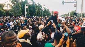 EndSARS protest at Lekki Toll Gate