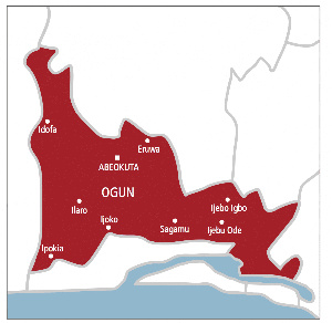 File photo: Ogun State map