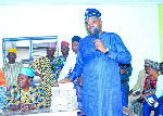 Hon. Arowosaye during the launch of the cooperative society