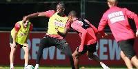 New FC Cologne striker Tolu Arokodare  in action