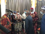 Dignitaries welcome the new Nigerian High Commissioner to Ghana
