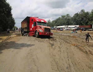 File photo: The deplorable road