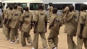 Members of the terrorist group, Boko Haram surrender