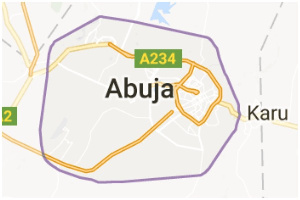 Abuja on the map