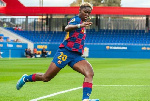 Oshoala scores first goal of the season as Barcelona Femeni crush Huelva