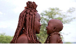 File photo: A Himba mother and son