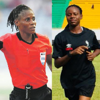 The two Nigerian female Referees preselected for the 2023 FIFA Women's World Cup