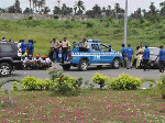 Members of the FRSC at the scene of the accident
