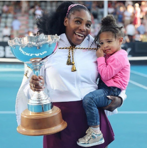Serena Williams and daughter Olympia