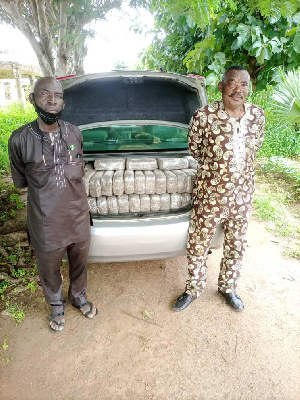 Military bust a drug syndicate and recovered 248 blocks of substance suspected to be cannabis