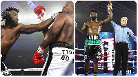 Efe Ajagba after knocking out Razvan Cojanu in their heavyweight bout