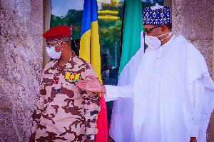 President Muhammadu Buhari and Mahamat Idris Deby Itno of Chad