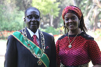 Former President and first lady of Zimbabwe, Robert and Grace Mugabe