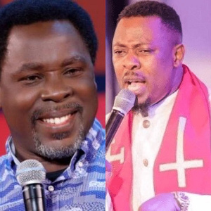 Prophet T.B Joshua(L), Prophet Nigel Gaisie(R)