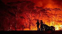 A fire scene