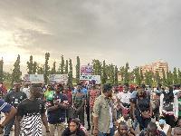File photo: The protestors