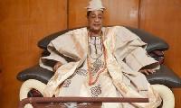 Alaafin of Oyo, Oba Lamidi Adeyemi III, on his 82nd birthday