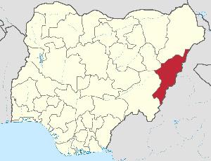 Adamawa State map